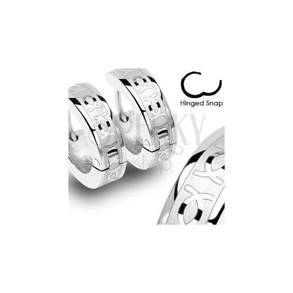 Karika fülbevaló acélból - kettős CC