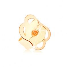 Pót stekker beszúrós fülbevalóra 14K sárga aranyból