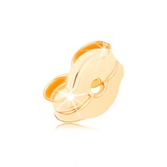 Pót stekker 9K sárga aranyból, beszúrós fülbevalók tartozéka
