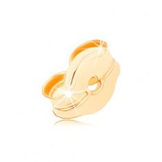 Stekker 14K sárga aranyból, a beszúrós fülbevalók része
