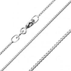 925 ezüst nyaklánc, sűrű szögletes szemek, 0,7 mm