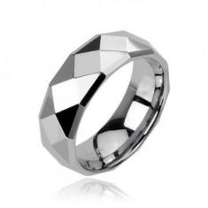 Wolfrám karikagyűrű fényes csiszolt felszínnel ezüst színben, 8 mm