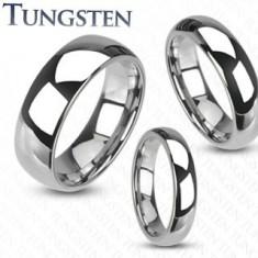 Wolfrám gyűrű - sima fényes karikagyűrű ezüst színben, 4 mm