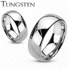 Tungsten gyűrű - sima, fényes felszín, Gyűrűk ura motívum, 8 mm
