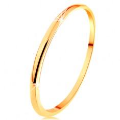 14K vékony arany karikagyűrű, sima enyhén kidomborodó felület