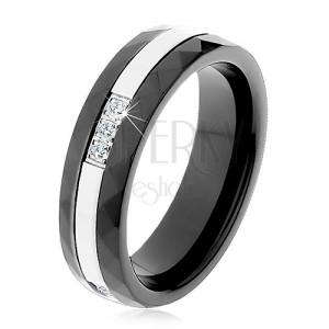 Kerámia gyűrű, csiszolt felülettel, vékony acél sáv, cirkóniák
