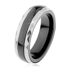 Kerámia gyűrű, csiszolt acél és ezüst színben