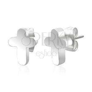 Kereszt fülbevaló sebészeti acélból