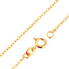 Nyaklánc 9K sárga aranyból - sima, ovális szemek, Rolo minta, 500 mm