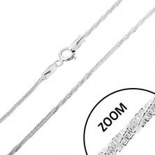 925 ezüst nyaklánc, kígyó minta - egyenes és tekert részek, 1,5 mm