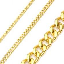 Sebészeti acélból készült arany lánc