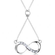 925 ezüst nyakék, nyaklánc medállal - INFINITY szimbólum cirkóniával