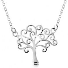 925 ezüst nyaklánc, lánc és medál - fényő életfa