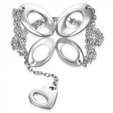 Acél karlánc - pillangó és szív