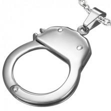 Nemesacél medál - rendőr bilincs