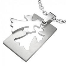 Medál minőségi acélból - Fleur De Lis Cross