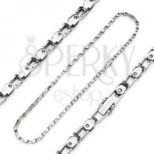 Sebészeti acélból készült nyaklánc - kerékpár lánc imitáció