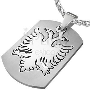Sebészeti acél medál - kétfejű sas szimbólum