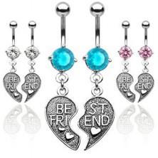 Piercing pároknak - kettétört szív, BEST FRIEND