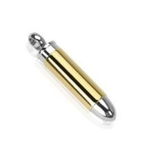 Medál acélból - arany és ezüst lőszer