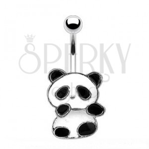 Köldökékszer - panda maci