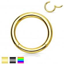 Orr vagy fül piercing, sebészeti acél, egyszerű fényes karika, 2 mm