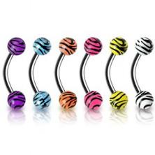 Tigriscsíkos szemöldök ékszer - többféle színben