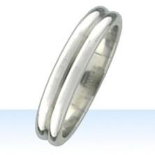 Nemesacél gyűrű, két gömbölyű sáv