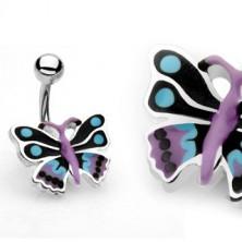 Köldökékszer - színes pillangó