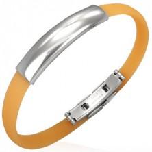 Narancsszínű lapos gumi karkötő