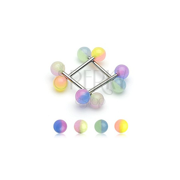 Nyelv piercing - golyócska két színben