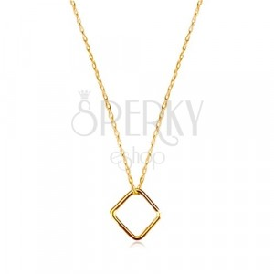 9K sárga arany nyaklánc - egyszerű rombusz, vékony lánc