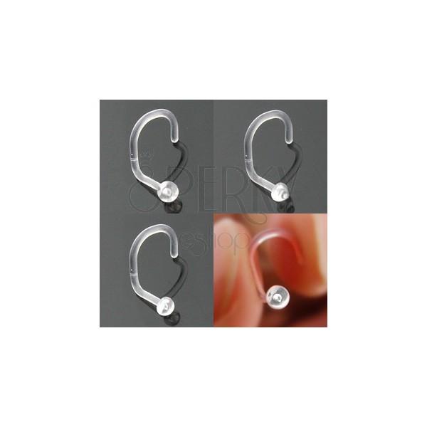 BioFlex orr piercing - különböző fejek