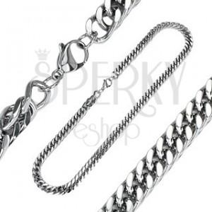 Sebészeti acélból készült nyaklánc - vastag, nagy szemek