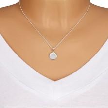 925 ezüst nyaklánc - kerek medál, cirkóniák félkör alakzatban