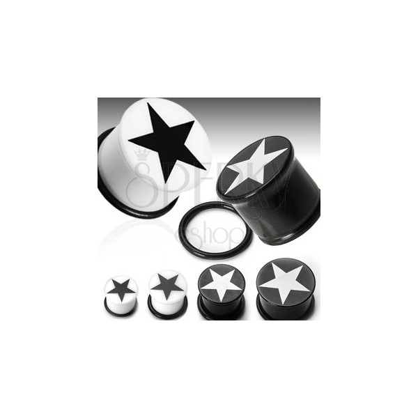 Fül piercing csillag logóval