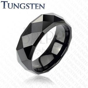 Fekete tungsten gyűrű - disco stílus