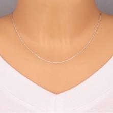 925 ezüst lánc - egymásra merőlegesen összekapcsolt szemek, lapos karikák, 1,3 mm