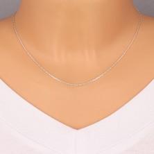 925 ezüst lánc - csiszolt csillogó szélű kerek szemek, 1,1 mm