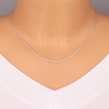 Ezüst nyaklánc - finom megcsavart szemek, 1,7 mm