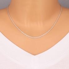 Ezüst nyaklánc - finom megcsavart szemek, 1,9 mm