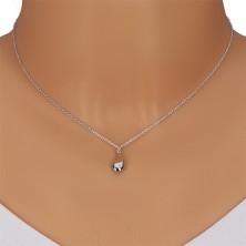 925 ezüst nyaklánc - tükörfényes csepp gyémánttal,lánc