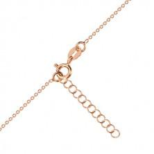 925 ezüst rózsaszín árnyalatú nyaklánc - fényes szív, Sarkcsillag, fekete gyémánt