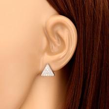 Három részes 925 ezüst szett - szabályos háromszög cirkóniával, nyaklánccal