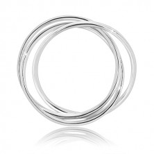 Hármas 925 ezüst gyűrű - keskeny egymásba fonódó gyűrűk fényes felülettel