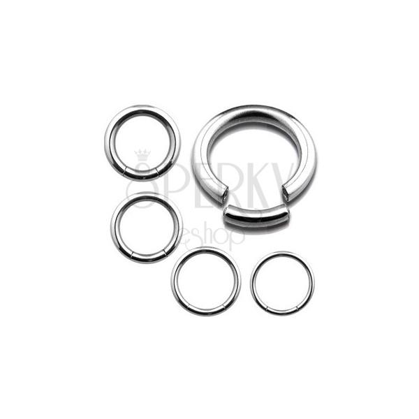 Rozsdamentes acél piercing - karika, ezüst szín