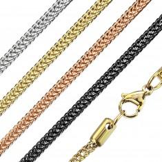 Acél nyaklánc - szögletes lánc, párhuzamos kapcsolás, 2,2 mm