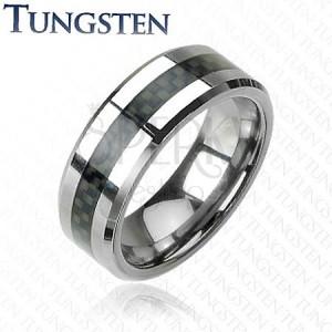 Tungsten gyűrű - sáv, szövet motívum