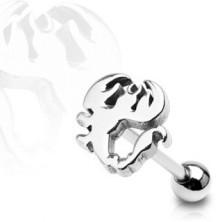 Nyelvpiercing - skorpió alakú fejecske