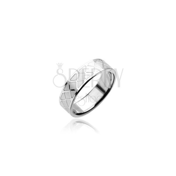 Sebészeti acél gyűrű - mozaik minta